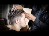 College Haircut For Guys   Thick Wavy Combed Back Haircut Tutorial   MATT BECK VLOG 63